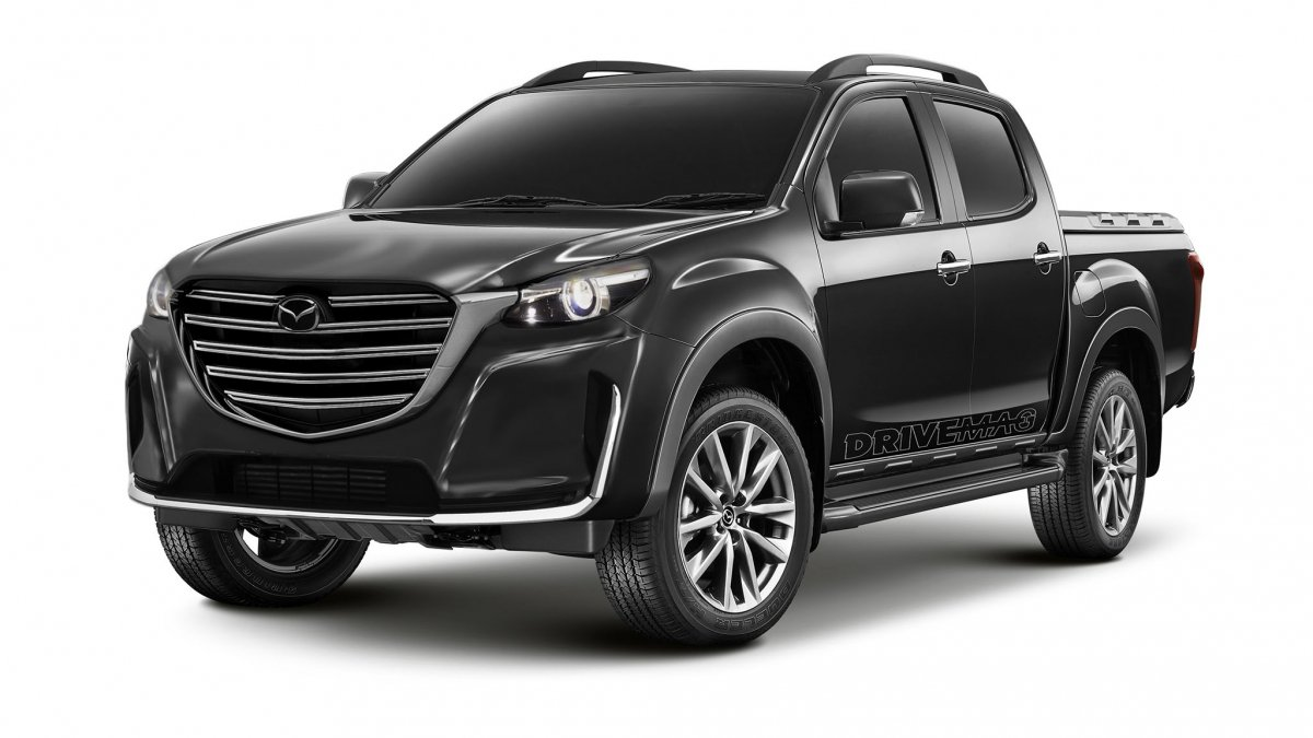 next mazda bt 50 pickup promises kodo design isuzu base. Black Bedroom Furniture Sets. Home Design Ideas
