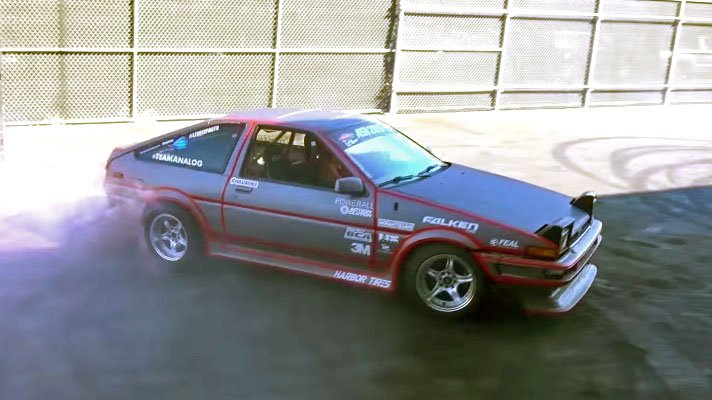 Electric Swapped Toyota Ae86 Drift Car Has A Manual Gearbox