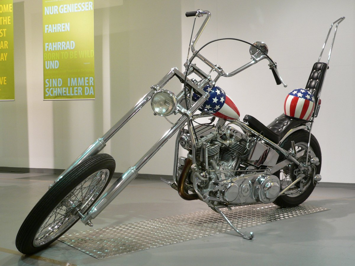 Meet The Captain America Panhead Harley Davidson One Of The