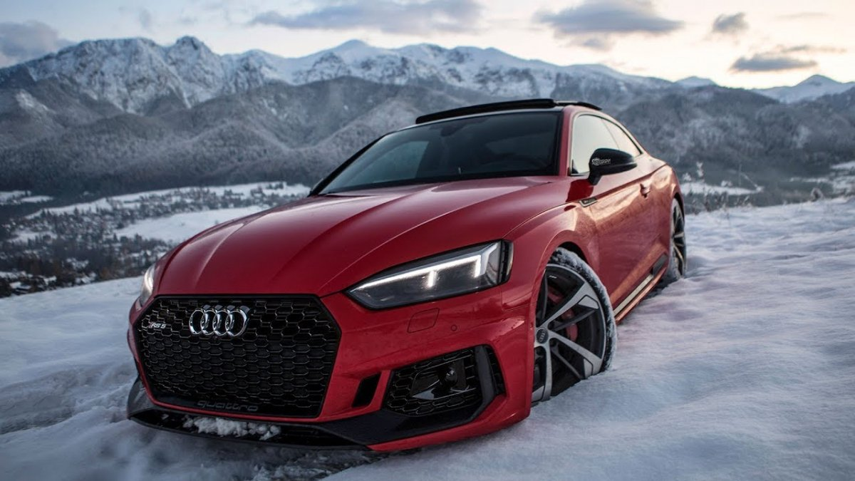 2018 audi rs5 comes out to play in the snow looks stunning in red. Black Bedroom Furniture Sets. Home Design Ideas