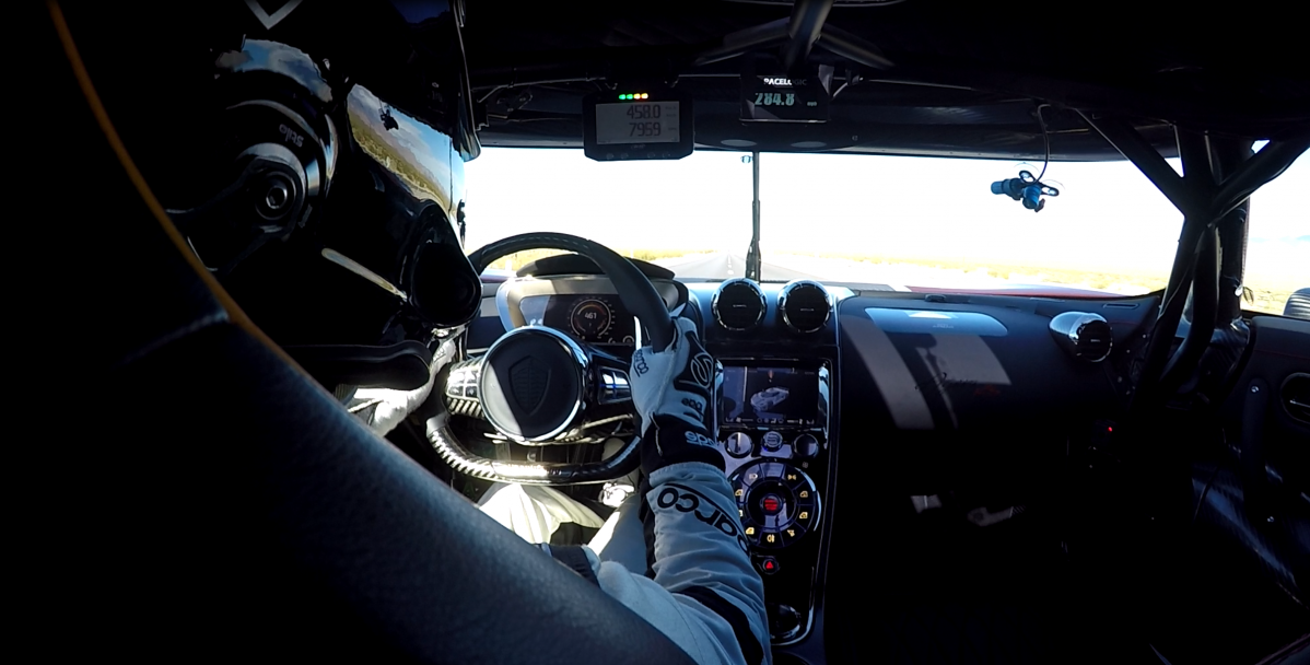 Watch the mighty Koenigsegg Agera RS hit 284 mph