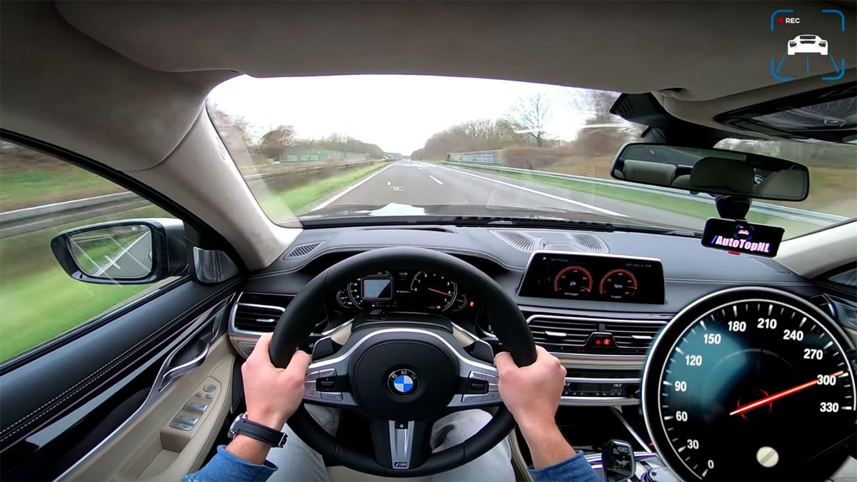 BMW Li Pushed To Top Speed On Autobahn - 760 bmw