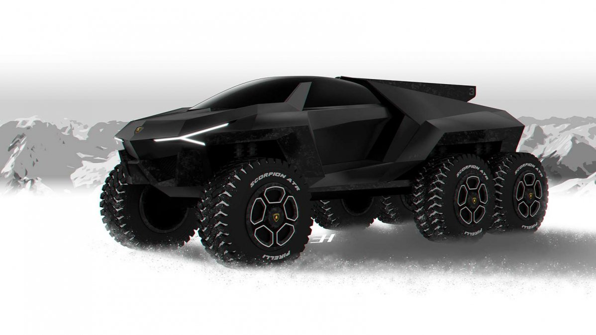 Lamborghini Rat 243 N Is What A Super Suv Taken To Another