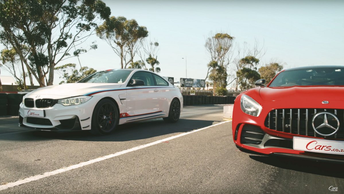 Rare BMW M4 DTM grabs Mercedes-AMG GT R by the collar
