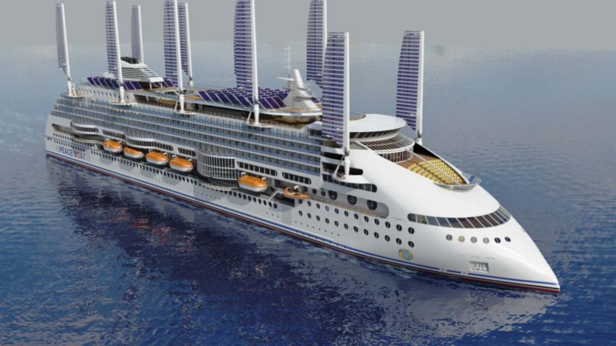 Future Ship Design : Ecoship is a cruise ship from the future