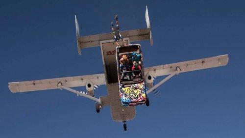 car skydiving