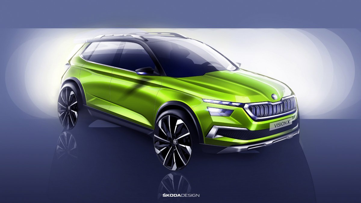 Sketches shed some light on Skoda's Vision X crossover concept