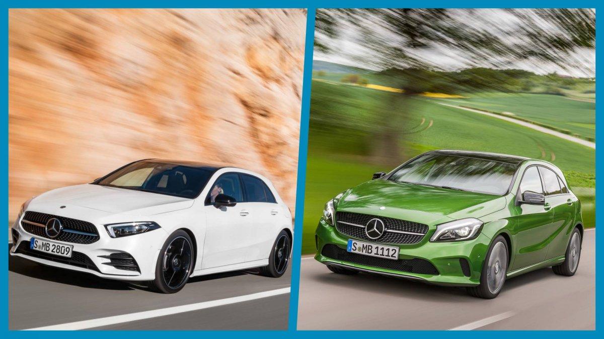 Mercedes Benz mercedes benz a class : We put 2018 Mercedes-Benz A-Class and its predecessor side by side
