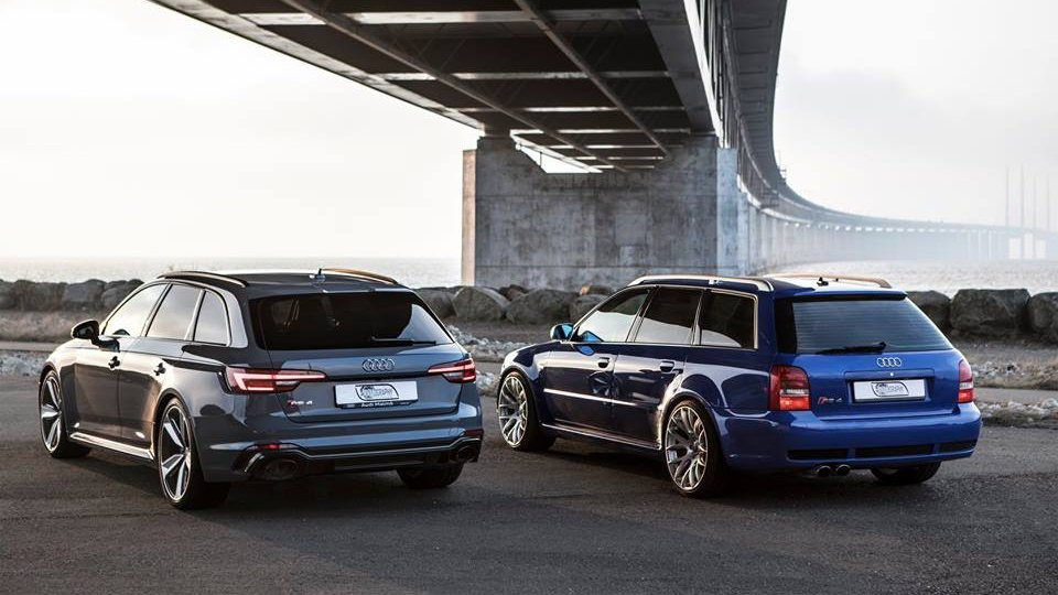 2018 Audi RS4 Avant vs 2001 RS4 Avant B5 is a then-and-now affair
