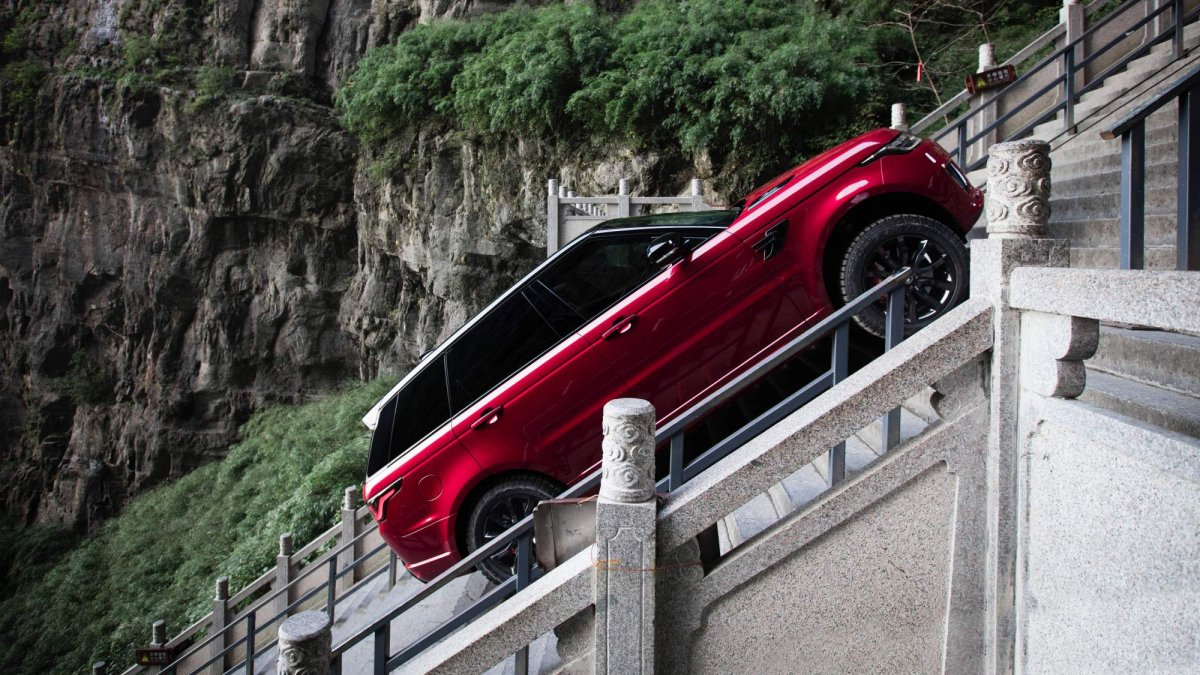 Honda Rock Hill >> Watch Range Rover Sport P400e climb all 999 stairs to China's Heaven's Gate