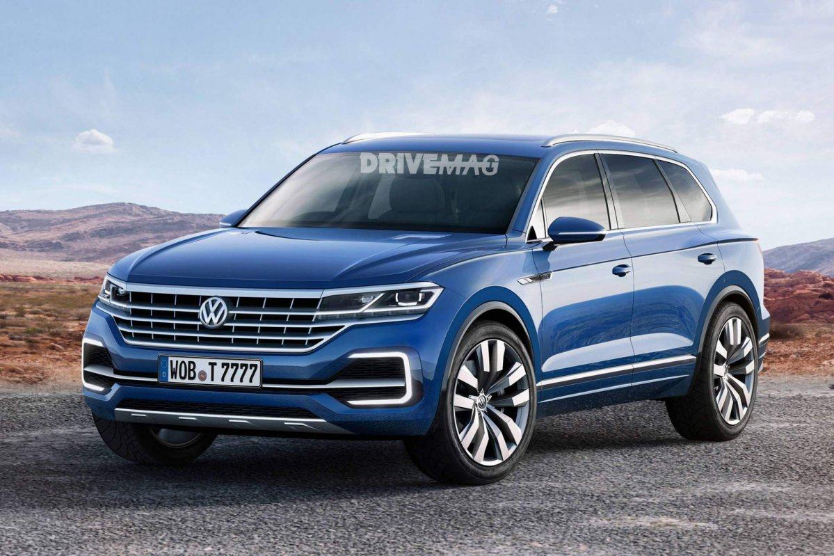 vw to unveil all new 2018 touareg suv on march 23 in beijing. Black Bedroom Furniture Sets. Home Design Ideas