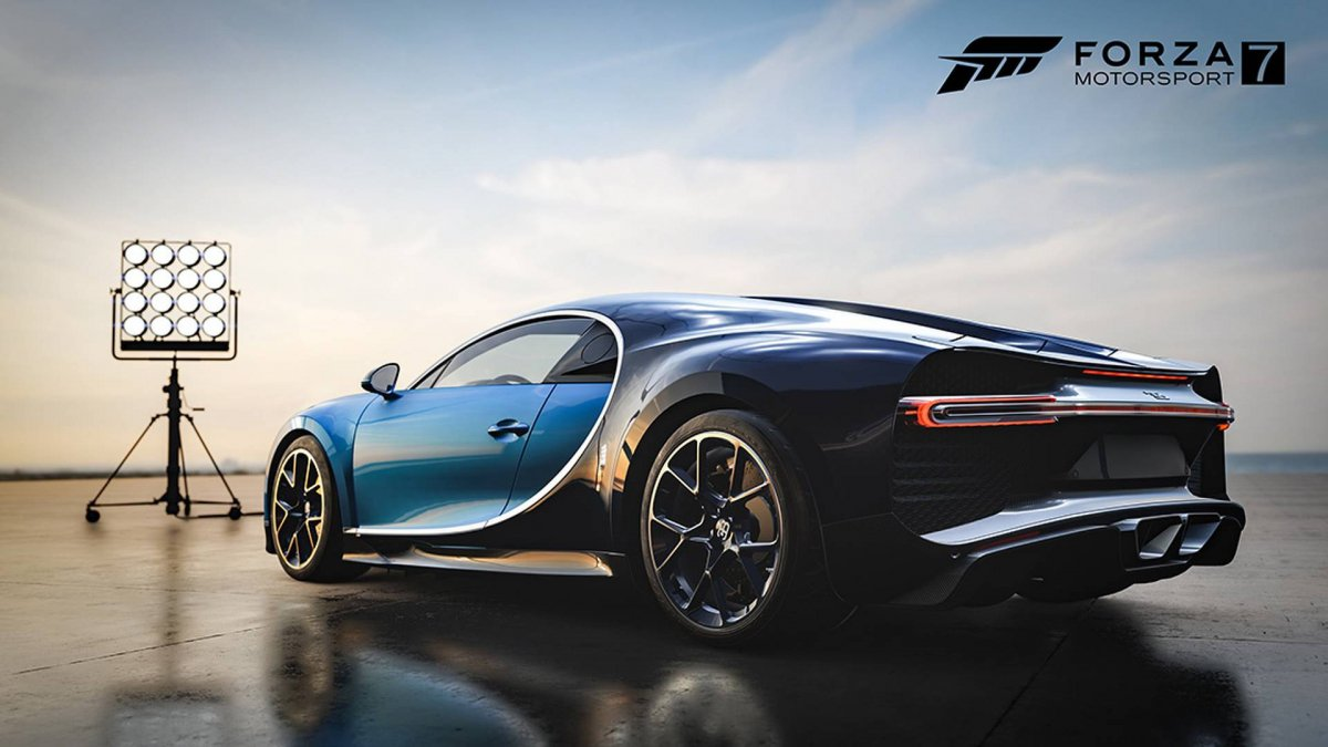 bugatti chiron debuts in forza motorsport 7 dell gaming pack. Black Bedroom Furniture Sets. Home Design Ideas