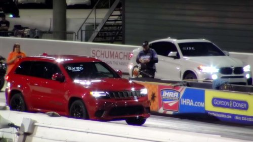 2018.03.09 jeep trackhawk vs bmw x6 m drag race
