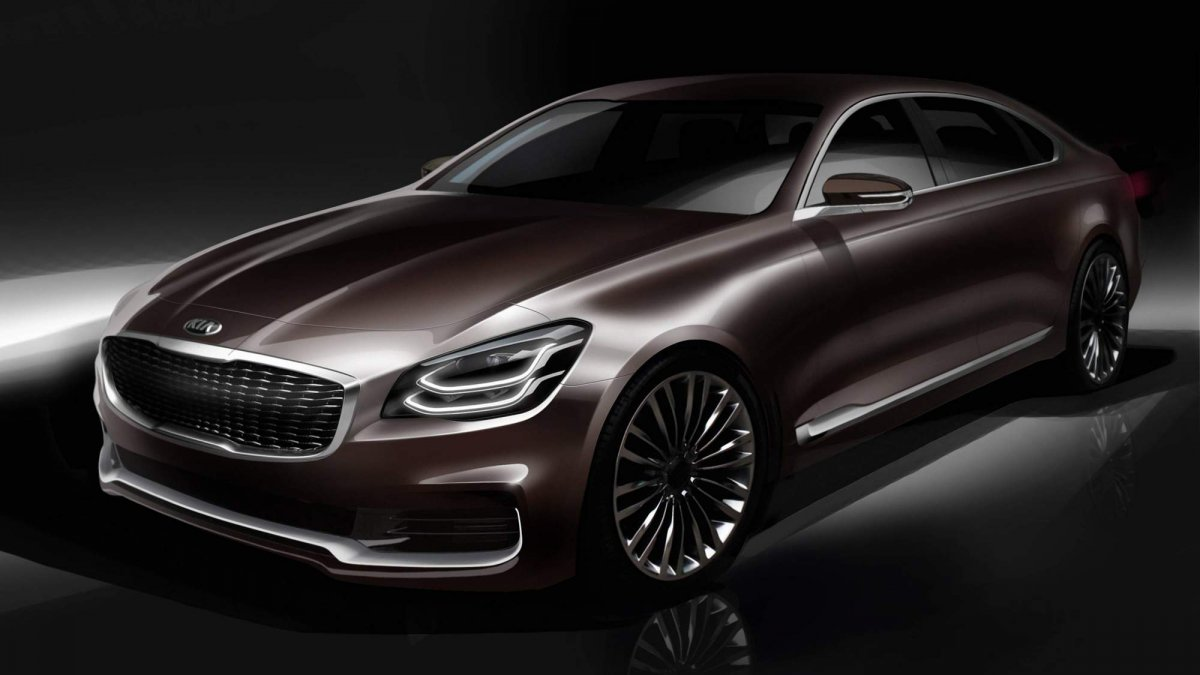 official renderings tease all new 2019 kia k900 luxury sedan. Black Bedroom Furniture Sets. Home Design Ideas