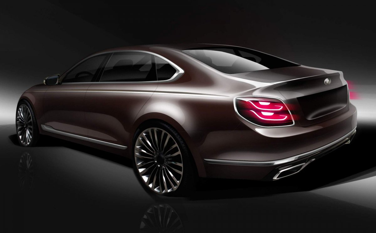 Official Renderings Tease All New 2019 Kia K900 Luxury Sedan