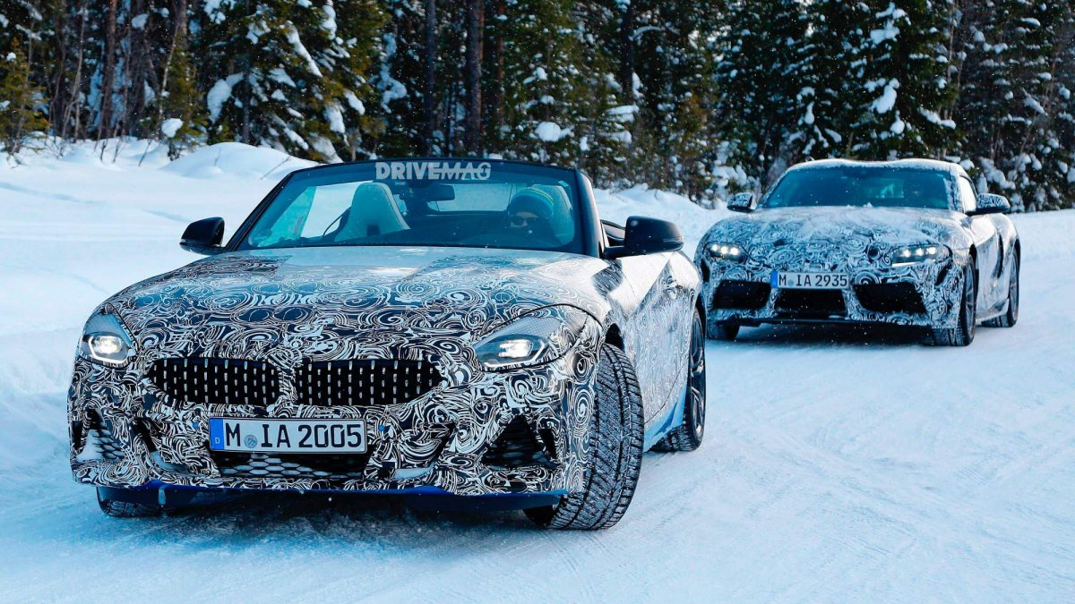 Bmw Toyota Supra >> 2019 Bmw Z4 And 2019 Toyota Supra Spied During Cold Weather Testing