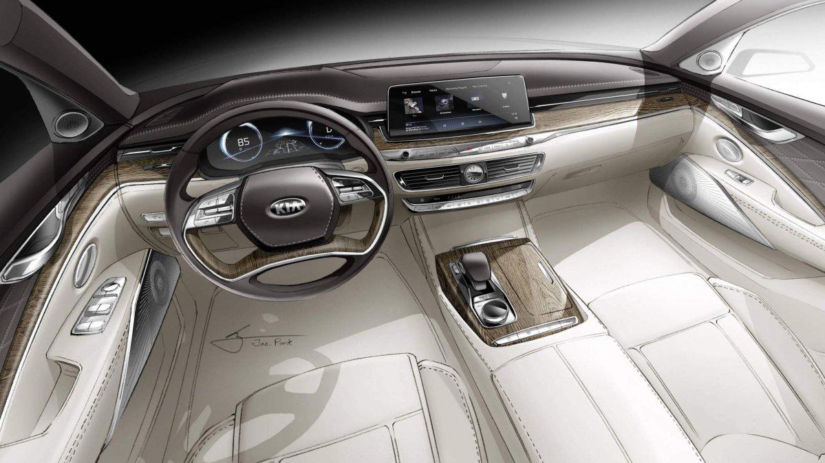 All New 2019 Kia K900 Preview: Kia Teases All-new K900's Interior Ahead Of New York Auto