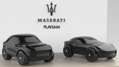 playsam maserati toys made of wood front