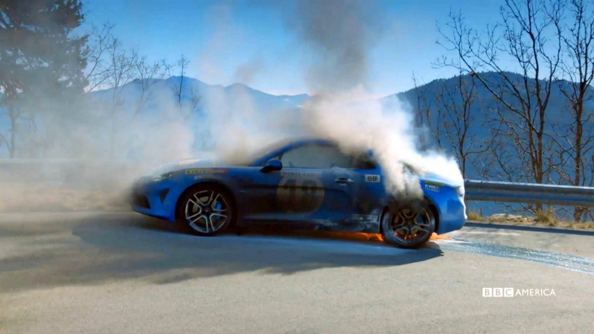 top gear 39 s alpine a110 fiery ending video surfaces online. Black Bedroom Furniture Sets. Home Design Ideas