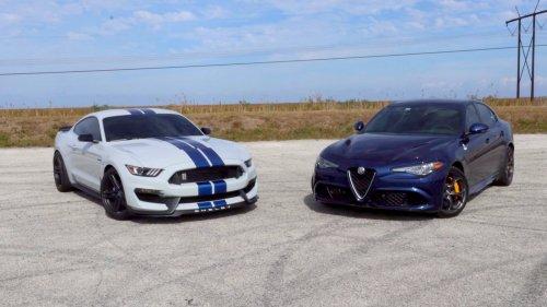 Ford Mustang Shelby vs Alfa Romeo Giulia QF