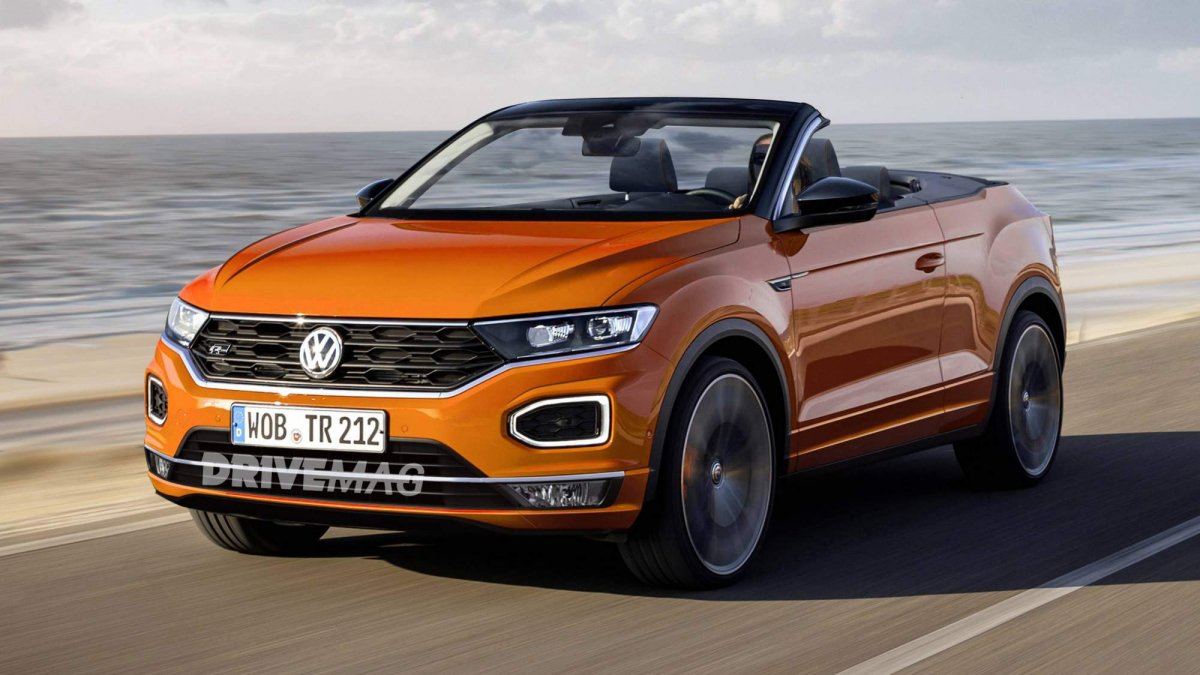 vw t roc cabriolet and bmw x2 convertible rendered. Black Bedroom Furniture Sets. Home Design Ideas