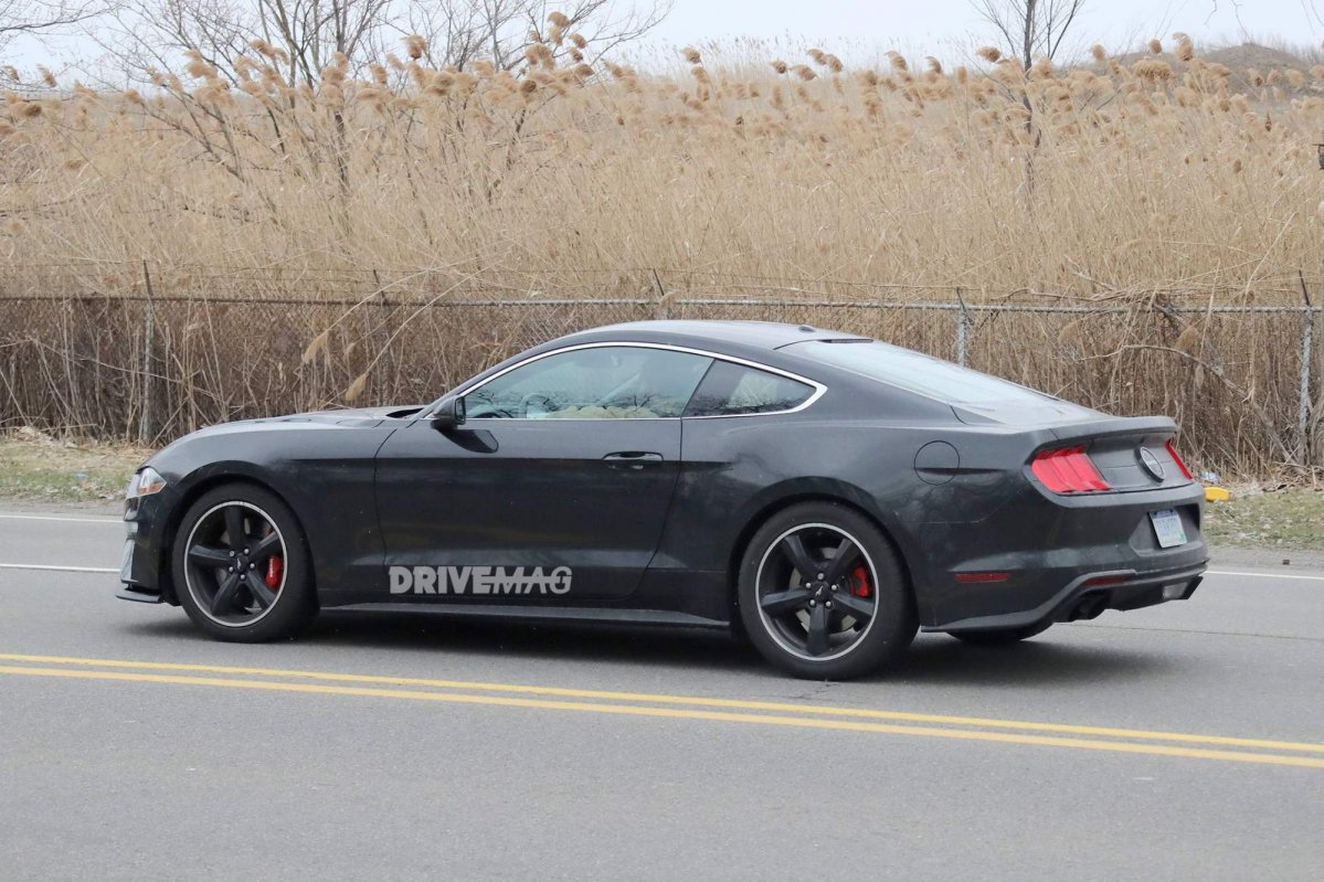 check out the first photos of the 2019 ford mustang bullitt in shadow black. Black Bedroom Furniture Sets. Home Design Ideas