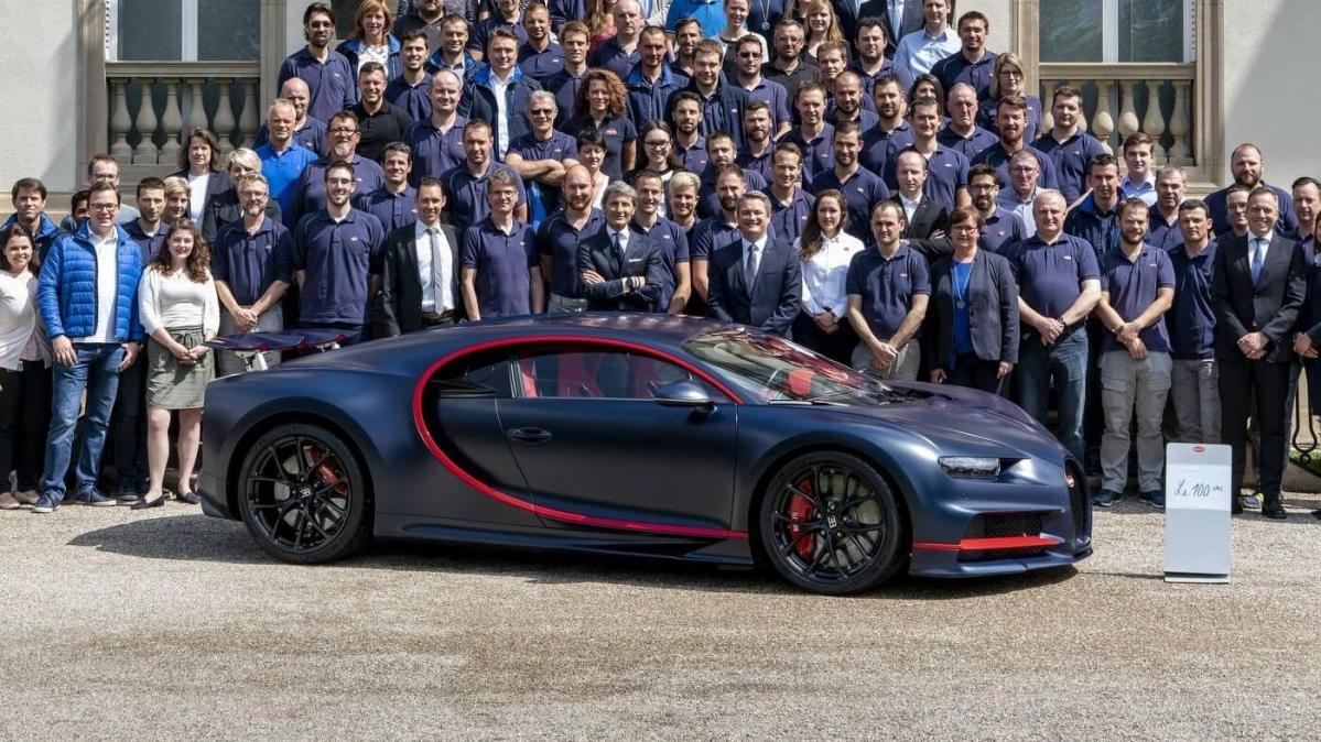 Bugatti Announces The Production Of The 100th Chiron