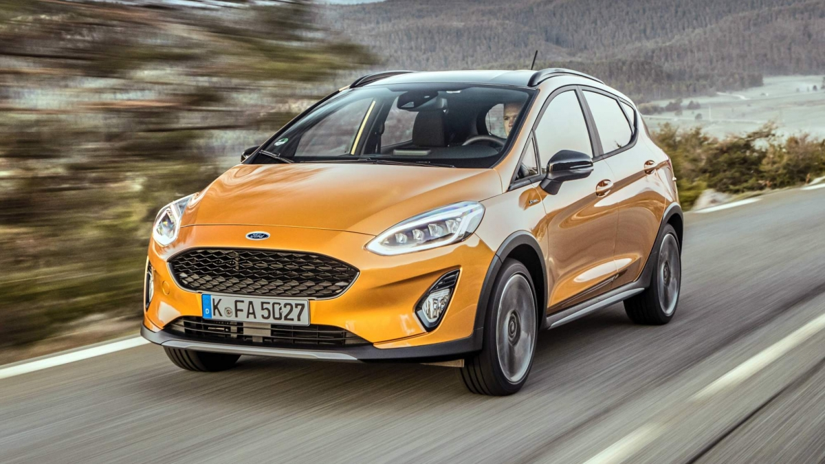our first drive review of the crossover flavored 2018 ford fiesta active. Black Bedroom Furniture Sets. Home Design Ideas
