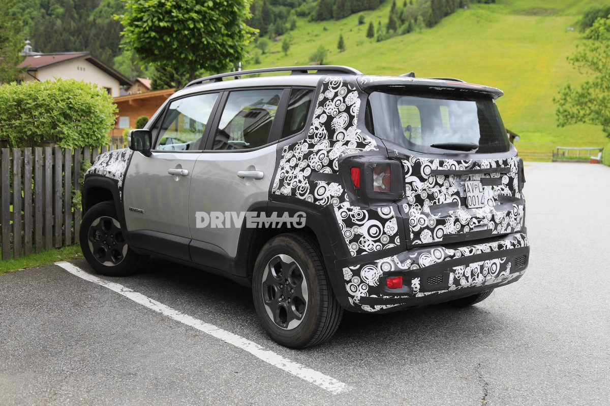 2019 Jeep Renegade facelift shows its bandaged nose in new ...