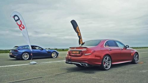 E63 AMG vs supercars