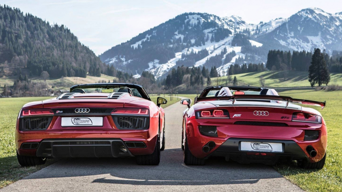 Audi R8 Rws Spyder Meets R8 Abt Gt S In Picture Perfect