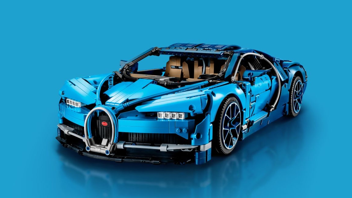 bugatti and lego technic take wraps off 1 8 scale chiron. Black Bedroom Furniture Sets. Home Design Ideas