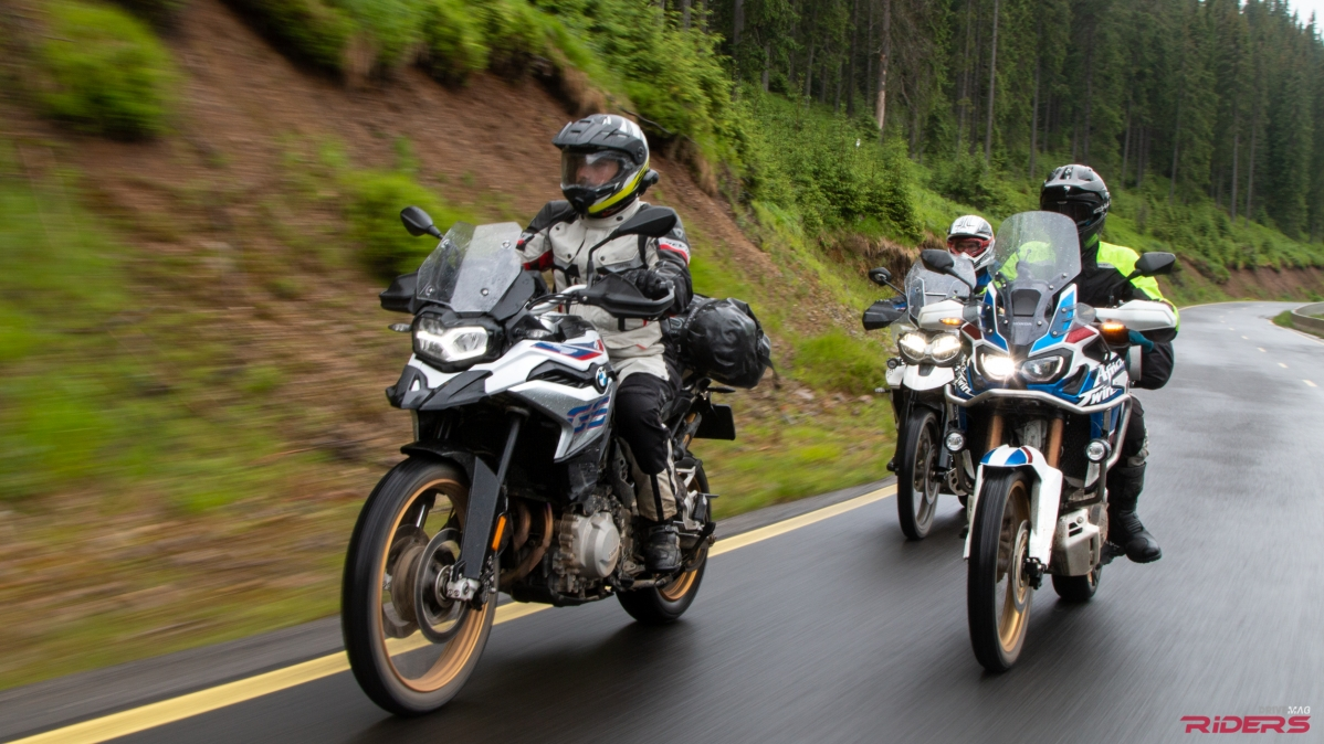 Drivemag riders us bikes motorcycles test rides f850gs vs africa twin vs tiger 800 fandeluxe Images