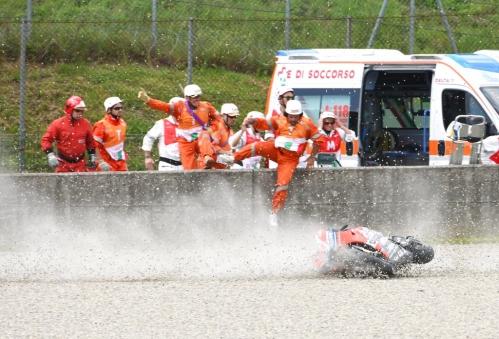 Michele Pirro's crashed Ducati at Mugello 2018