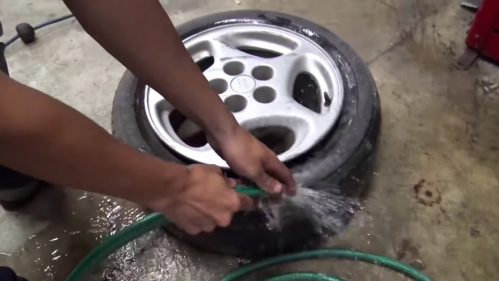 water-in-tire