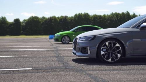 2018-Audi-RS4-Avant-vs-2018-Audi-RS3-Sedan-drag-race