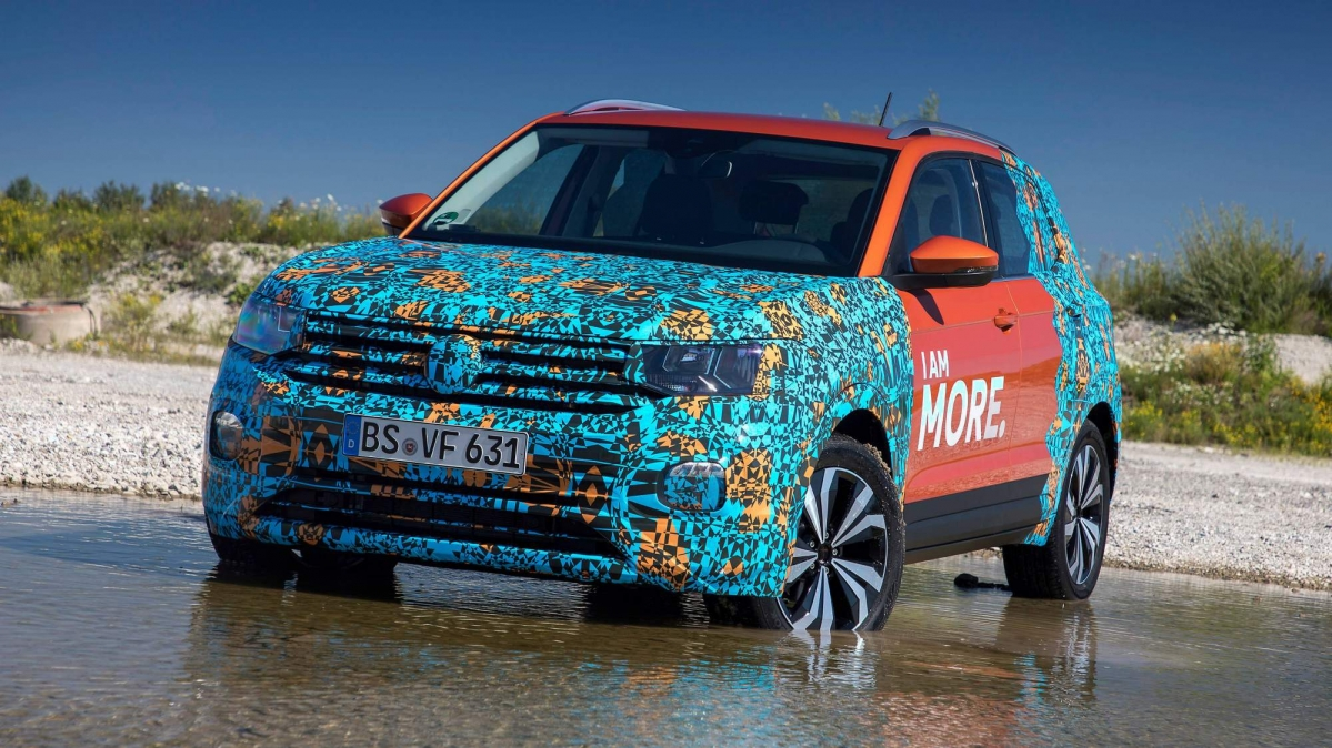 vw drops new details about the 2019 t cross baby suv. Black Bedroom Furniture Sets. Home Design Ideas