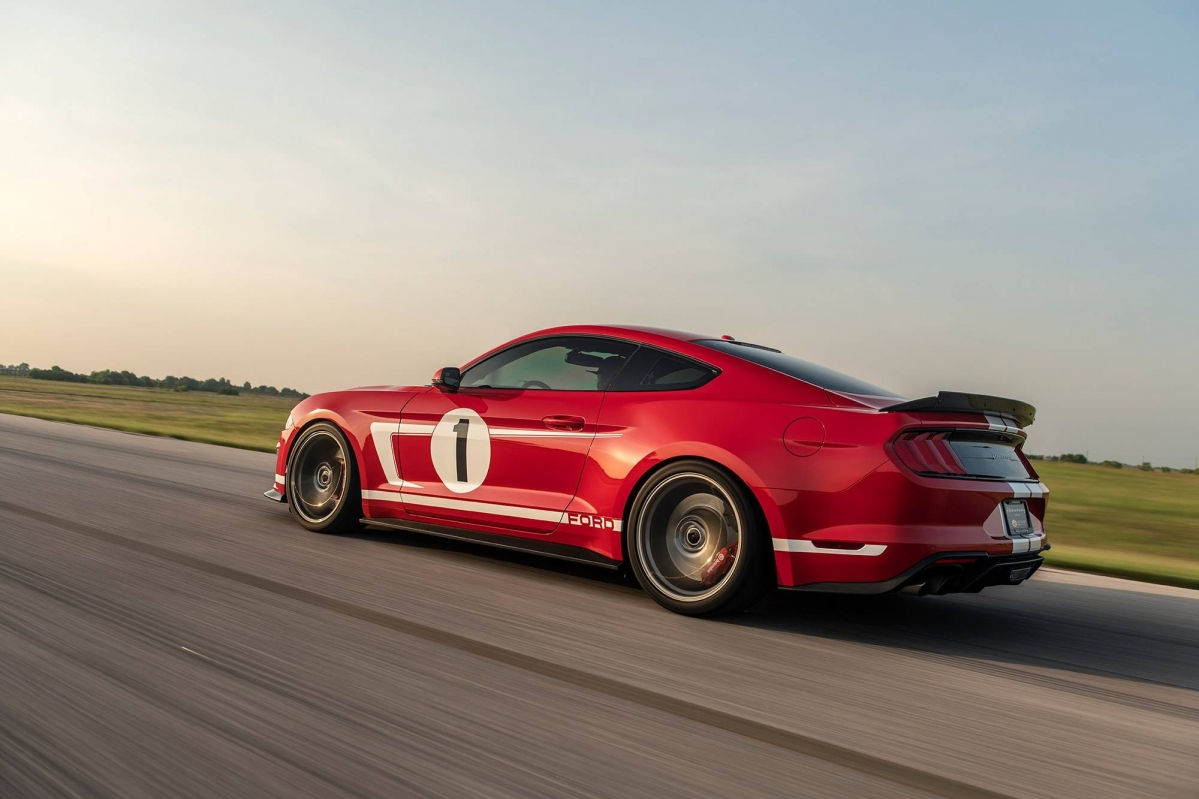 Hennessey Unleashes Ford Gt Inspired  Heritage Edition Mustang With  Horsepower