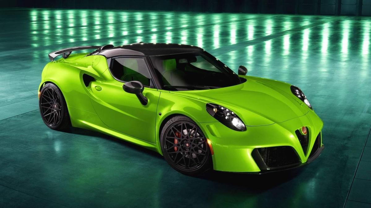 Pogea Racing Crafts Flashy Alfa Romeo 4c Centurion 007 Green Arrow