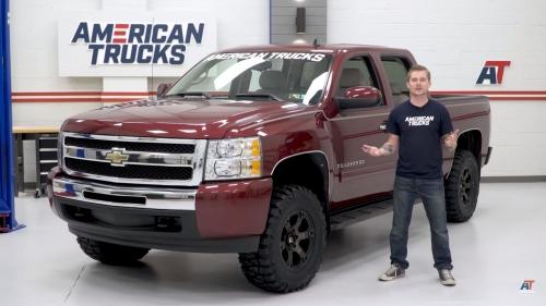 Chevy Silverado offset American Trucks