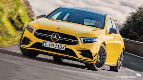 2019 mercedes-amg a 35 4matic front