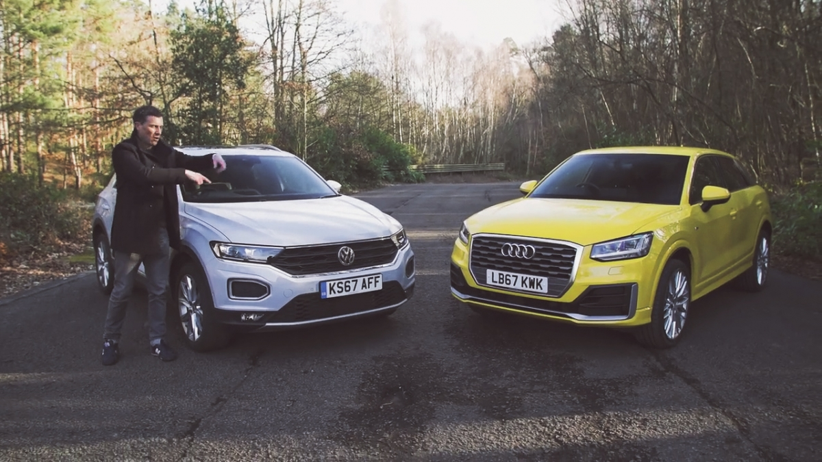 how the vw t roc compares to the audi q2