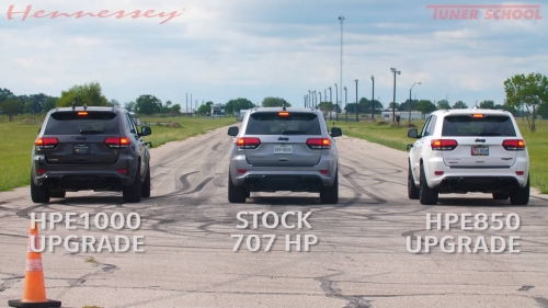 Hennessey drag races three Trackhawks, makes 707 HP look slow