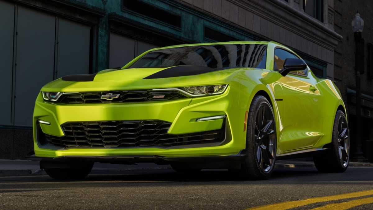 2019 Camaro Bags New Yellow Body Paint At Sema 2018