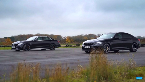 Merc E63AMG vs BMW M5 Competition 0